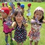ボディペインティング日々の遊び夏の風景