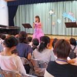 7月開催のエンジェルコンサート風景 一般のお客様も一緒に観賞